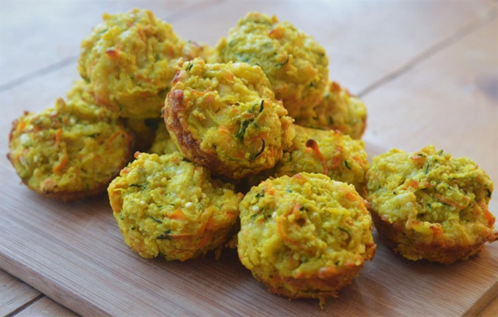 Zucchini Onion Bites