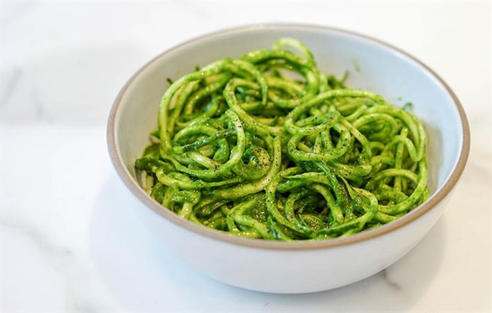 Zucchini Noodles w/ Pesto