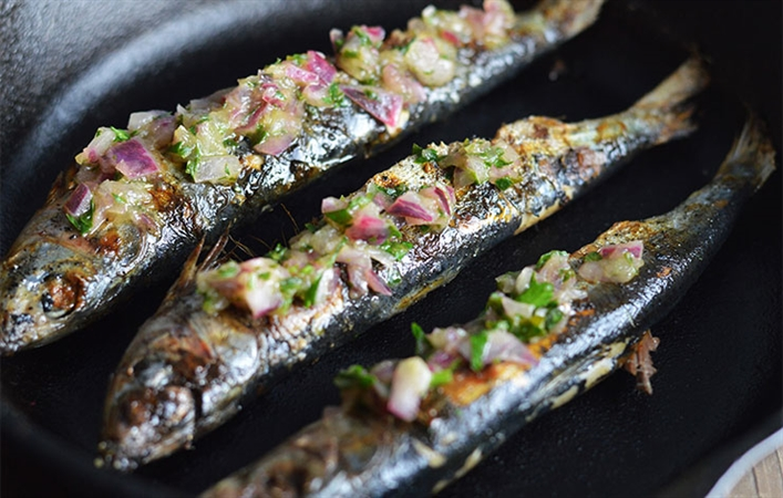 Grilled Sardines with Herb Salsa