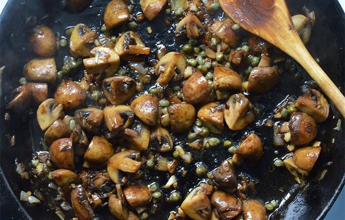 Mushrooms and Capers