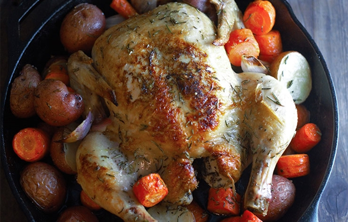 Olive Oil Roasted Chicken and Vegetables
