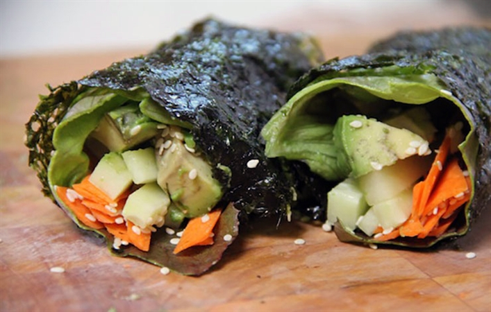 Avocado Veggie Nori Wrap