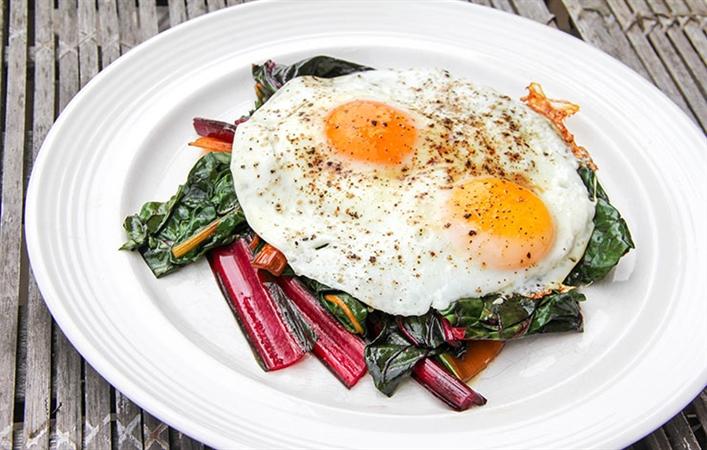 Chard & Eggs