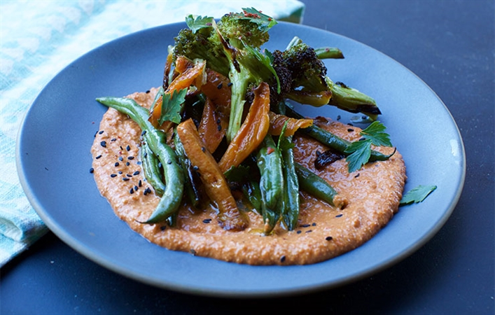Roasted Vegetables with Muhammara